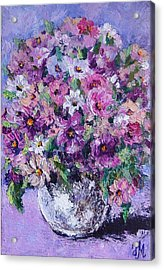 Acrylic Print featuring the painting Summer by Nina Mitkova