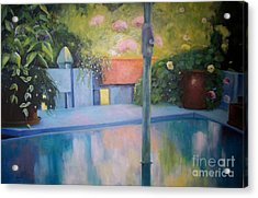 Summer On The Deck Acrylic Print by Marlene Book