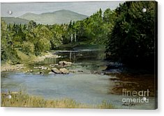 Summer On The River In Vermont Acrylic Print by Laurie Rohner