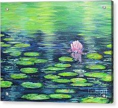 Summer Pond Acrylic Print by Sian Lorraine