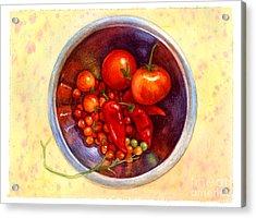 Summer Reds Acrylic Print by Isabella Kung