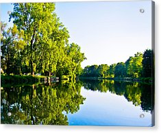 Acrylic Print featuring the photograph Summer Reflections by Sara Frank