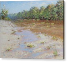 Summer River Acrylic Print by Nancy Stutes