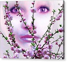 Summer Rose Acrylic Print by Tlynn Brentnall