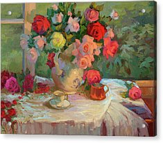 Summer Roses Acrylic Print by Diane McClary