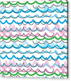 Acrylic Print featuring the digital art Summer Seaside  by Jocelyn Friis