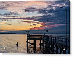 Summer Solstice At Crescent Beach Acrylic Print by Paul W Sharpe Aka Wizard of Wonders