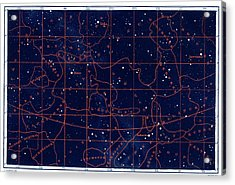 Summer Solstice Constellations Acrylic Print by Collection Abecasis