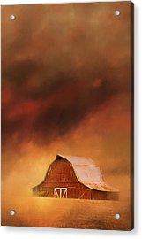 Summer Storm At The Barn Acrylic Print by Jai Johnson