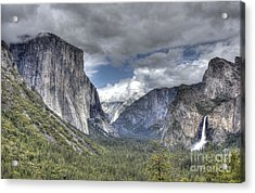 Summer Storm At Yosemite Acrylic Print by ELDavis Photography