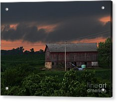 Summer Storm Brewing Acrylic Print by Laurie Wilcox