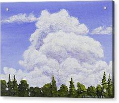 Summer Storm Clouds Over Maine Forest Acrylic Print