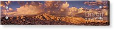 Acrylic Print featuring the photograph Summer Storm Clouds Over The Eastern Sierras California by Dave Welling