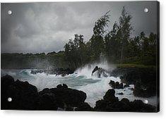 Summer Storm Hana Bay Hawaii Acrylic Print