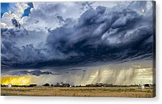 Summer Storm Twin Falls Idaho Acrylic Print by Michael Rogers