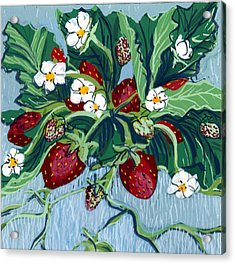Summer Strawberries Acrylic Print