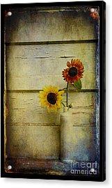 Summer Sunflowers Acrylic Print by Sari Sauls