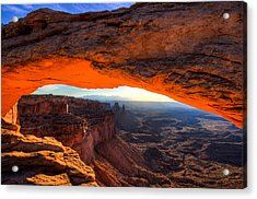 Summer Sunrise At Mesa Arch Acrylic Print by John McArthur