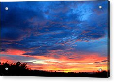 Summer Sunset Acrylic Print by Candice Trimble