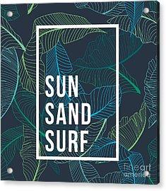 Summer Text Palm Acrylic Print