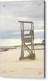 Summer Throne Lifeguard Chair Acrylic Print by Suzanne Powers