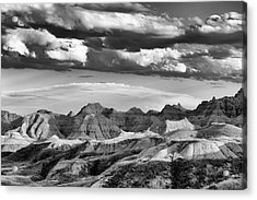 Summer Thunderstorm Badlands National Park Sd Acrylic Print by Troy Montemayor