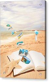 Summer Vacation Postcards Acrylic Print by Amanda Elwell
