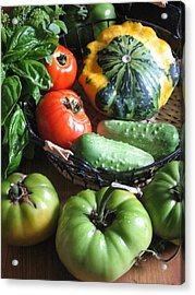 Summer Vegetable Garden  Acrylic Print