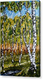 Acrylic Print featuring the painting Summerforest by Zeke Nord