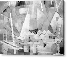 Summerlife Greyscale Acrylic Print by Lutz Baar