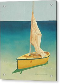 Summer's Boat Acrylic Print by Diane Cutter