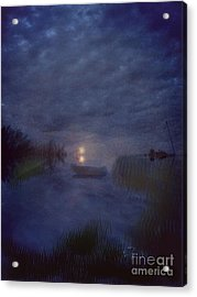 Summer's Moon Acrylic Print by Liz Campbell