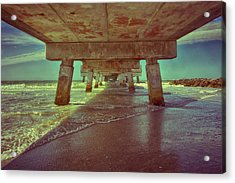 Summers Under The Pier Acrylic Print by Nicholas Evans