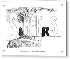 Summers Without You Are Short And Dark Acrylic Print by Saul Steinberg