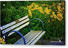 Summertime Bench Acrylic Print by Maria Janicki