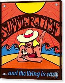Summertime Blond Relaxed Girl Acrylic Print