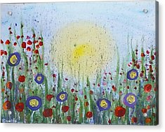 Acrylic Print featuring the painting Summertime by Carol Duarte