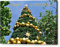 Summertime Christmas With Text Acrylic Print by Kaye Menner
