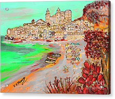 Summertime In Cefalu' Acrylic Print by Loredana Messina