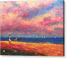 Summertime On The Beach Acrylic Print