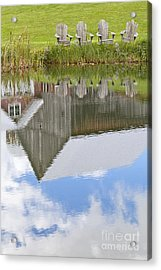 Summertime Reflections Acrylic Print by Alan L Graham