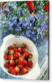 Summertime Table Acrylic Print by Michelle Calkins