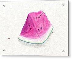 Summertime Watermelon Acrylic Print by Roz Abellera Art