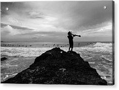Summoning Up The Waves Acrylic Print by Noel Elliot