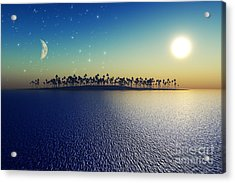 Sun And Moon Acrylic Print