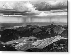Sun And Rain On Pikes Peak Acrylic Print