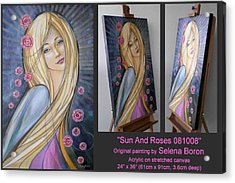 Sun And Roses 081008 Comp Acrylic Print