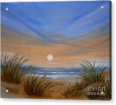 Acrylic Print featuring the painting Sun And Sand by Holly Martinson