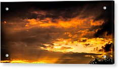 Sun Beams And Clouds Acrylic Print by Optical Playground By MP Ray