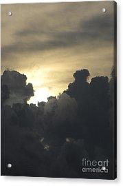 Sun Behind The Storm Acrylic Print by Gayle Melges